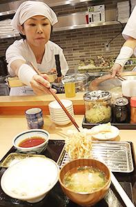PICK UP:トリドール 「天ぷら定食まきの」を来月開店 大阪で「都度揚げ」提供