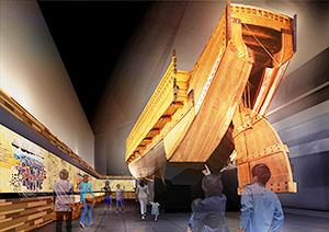 ミツカングループ、「MIZKAN MUSEUM MIM」11月オープン 20mの弁才船で映像航海体験も