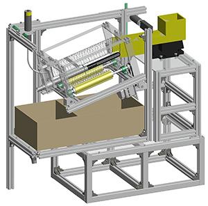 回転輸送型静電選別装置」CAD図面