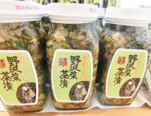 「野沢菜茶漬」瓶入り(400g、255g)の2種類