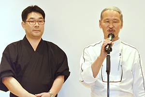 勝又登氏(右)と伊藤剛治氏