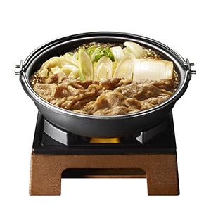 メーンとなる牛すき鍋