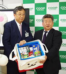 大見英明理事長(左)と高橋一彦会長