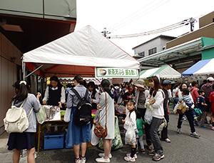 人気の新芽の天ぷらコーナー