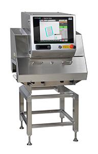 パウチ包装のかみこみ専用X線検査機