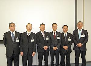 アスマンを構成する6社のトップ(設立の15年4月1日時点)