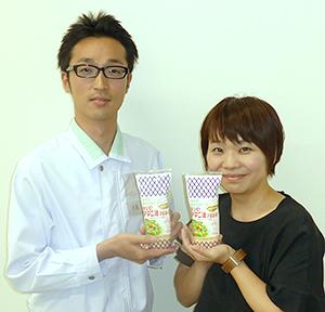 「先輩方の培ってきた技術を集大成した」と吉見一真氏(左)と、「日常の食卓で高血圧者を応援したい」と渡辺智子氏