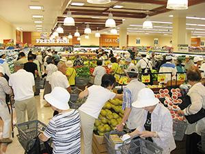 夏商戦本番の札幌市内スーパー