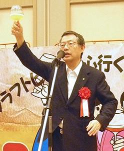 乾杯のあいさつを行う盛田宏実行委員長
