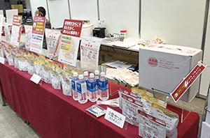 商品とともに情報も充実した災害食コーナー