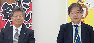 久田貴之社長(左)と大野潤取締役
