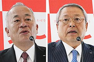 (左)米岡潤一郎専務(右)伊藤滋社長