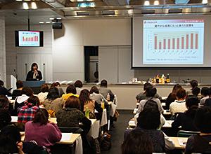 大阪市内の保育所栄養士ら約100人が参加した
