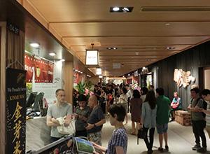 シンガポール伊勢丹オーチャード店「ジャパンフードタウン」で金芽米の使用をアピールする日本外食店