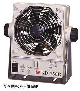 写真1 電気式除電器の例(ファンタイプ)