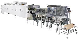 初出品のVS(バラエティスイーツ)ラインはユーザーの生産に合わせてオーブンラインが構築できフレキシブルなシステムだ