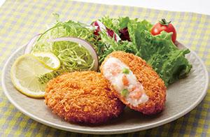 「魚屋(ととや)の洋食 海老のレモンクリーミーフライ(瀬戸内産レモン使用)」