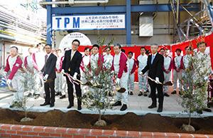 植樹祭には関係者が多数出席した
