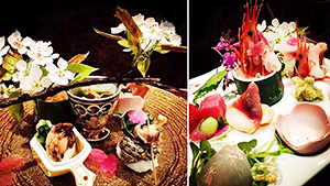 上海の日本料理店で提供されている料理の一例