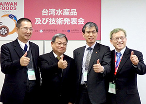 右から王清要氏、陳英顕氏、蔡俊雄氏、楊雲裕氏