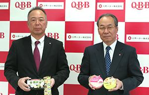 今春の新商品戦略を語る三宅宏和社長(右)と中島雅一専務取締役営業本部長