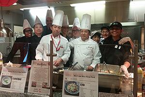 シェフを派遣して日本食の基礎調味料の活用方法を伝授