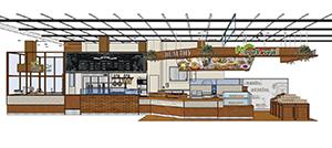ガラス張りのソース工房や物販スペースも備えた店舗(イメージ)