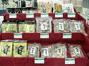 「瀬川の椎茸」をアピール(1月の国分東北展示会)