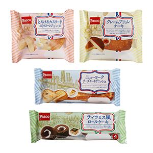世界の人気スイーツがモチーフの菓子パン4品