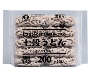 「1/2日分の食物繊維がとれる七穀うどん(ミニダブル)