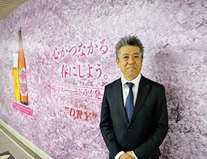 ラッピング広告と門田高明理事本部長