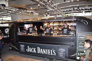 移動式のバーで「ジャック ダニエル」の世界観を伝える