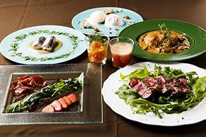 牧草牛を使った前菜や青魚のマリネなど、季節ごとに異なるメニューを提供