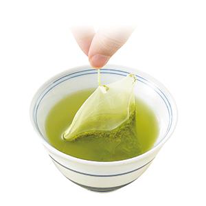 抹茶入上級煎茶ティーパックみやび(3.5g×20袋、税込み812円)