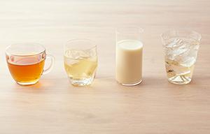 豆乳や炭酸と割ってもおいしく、紅茶と混ぜても相性抜群