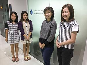 日系飲食店向け支援サービスを開始したGFキャピタル(タイランド)のスタッフ=タイ・バンコクで。小堀が6月20日写す