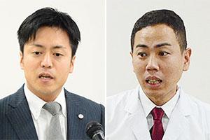(左)新居耕平執行役員営業本部長(右)吉田啓之商品開発課担当課長
