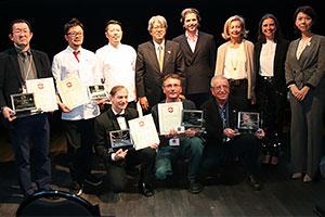 16年度に開催した「テイスト・ オブ・ジャパン・イン・スペイン」の受賞者ら
