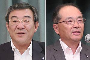 (左)黒沢忠寿常務執行役員東日本営業部門長代行(右)佐々木淳一社長