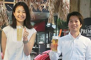 プレミアム戦略部の中野景介氏(右)とブランド戦略部の酒巻真琴氏