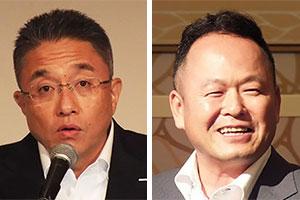 (左)山田徹会長(右)福田雅弘九州エリア統括