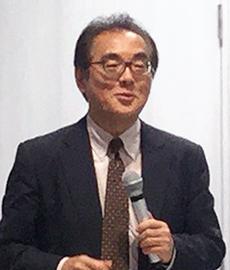基調講演する片田敏孝東京大学大学院情報学環特任教授