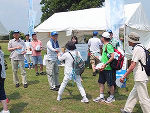 7月に行われた「TOKYOウオーク」で活動をPR
