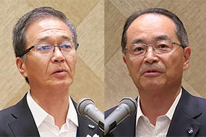 (左)村上一平マリンアクセス社長(右)佐々木淳一日本アクセス社長
