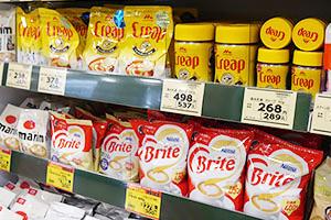 厳しい逆風のクリーミングパウダー市場も、製品特徴を生かした多彩な切り口で飲み方・食べ方を提案し、市場活性化に注力する