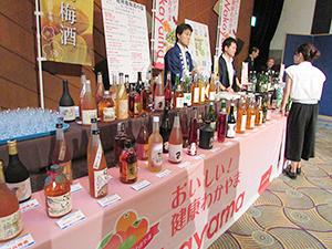 和歌山県の梅酒・清酒の展示・試飲コーナー