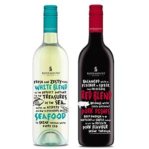 食事との相性を追求した「ローズマウント ミール・マッチャー」の赤(右)と白