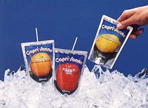 「カプリソーネ」で清涼飲料市場に進出した(1980年当時)