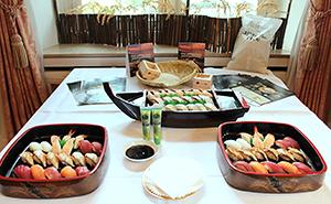 大使館主催イベントで振る舞った日本国産米を使った寿司