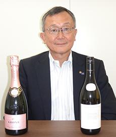 取締役支社長 竹内昭二 輸入している南アフリカワイン